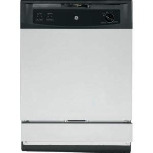 ge front the sink dishwasher in stainless