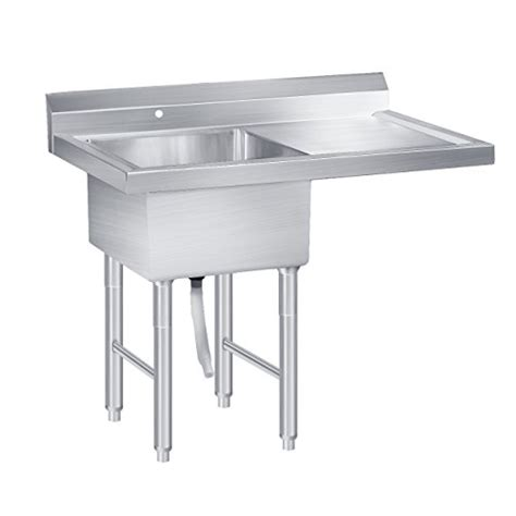 commercial stainless steel sink with drainboard beamnova commercial stainless restaurant kitchen utility