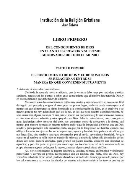 libro institucin de la religin calvino instituci 243 n de la religi 243 n cristiana