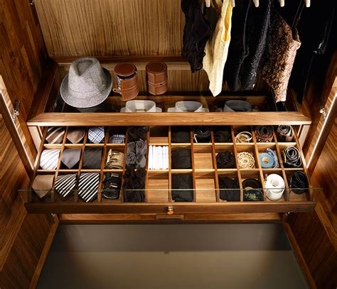 Tie Drawer by Luxury Made To Order Wardrobes Relief Team7 Wharfside