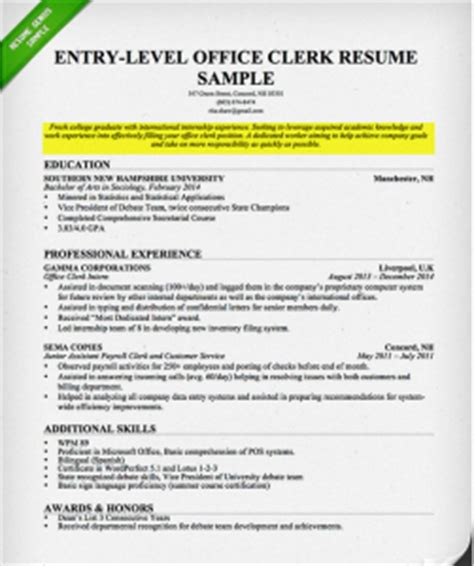 Sample Resume For Entry Level by How To Write A Career Objective On A Resume Resume Genius