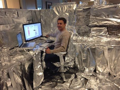 irti picture 4896 tags tinfoil office prank