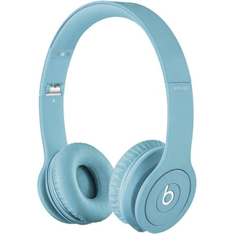 beats light blue beats hd monochromatic light blue hi fi headphones
