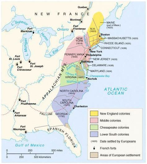 13 Colonies Maps