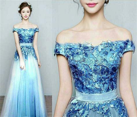 desain gaun renda gaun long dress untuk pesta modis dan modern gebeet com