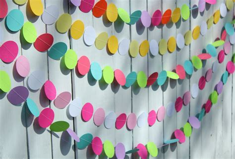 Home Made Cake Decorations by Birthday Party Decorations Paper Garland Party Decoration