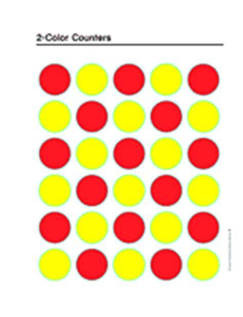 printable board game counters 2 color counters printable k 3rd grade teachervision com