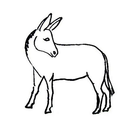 cute donkey coloring page sketch coloring page