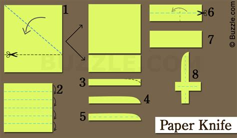 Steps To Paper - extremely easy steps that can be used to make a paper knife