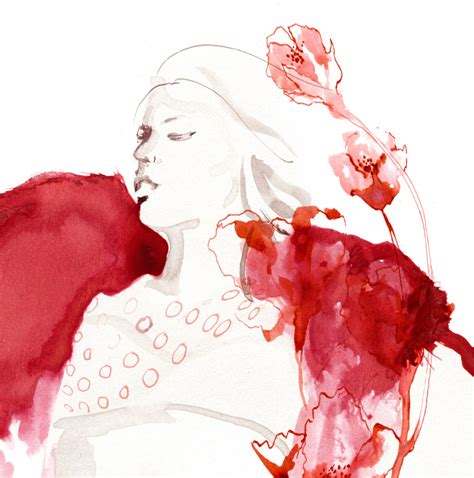 fashion illustration editorial fashion illustration flowers leona beth pearson s