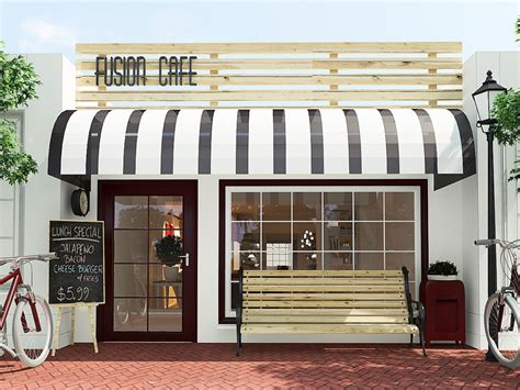 how to design coffee shop coffee shop exterior design 3ds max vray pts hiếu