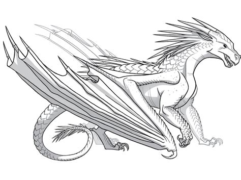 free coloring pages of seawing dragon