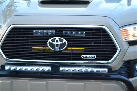 tacoma grill light bar 2016 tacoma the grille led light mount