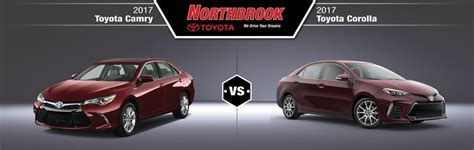 Toyota Camry Vs Corolla 2017 Toyota Camry Vs 2017 Toyota Corolla In Northbrook