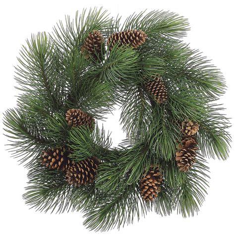 33 inch long needle pine wreath w cones ywp033 gr