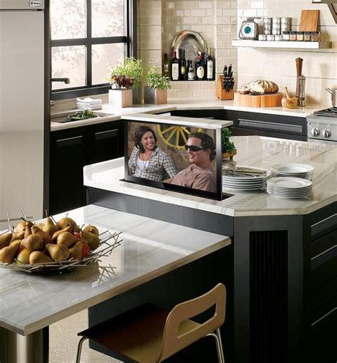 Hidden TV in Kitchen Island Contemporary Kitchen phoenix by NEXUS 21