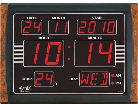 digital wall clock ajanta led digital wall clock olc 112