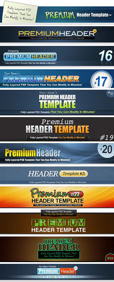 header template psd 75 fully layered psd header templates that you can modify