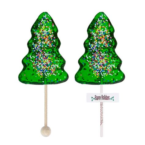 classic christmas tree lollipops 24 hard candy lollipops