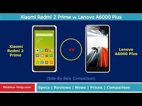 Lenovo A6000 Plus Vs Xiaomi Redmi 2 Prime xiaomi redmi 2 prime vs lenovo a6000 plus side by side
