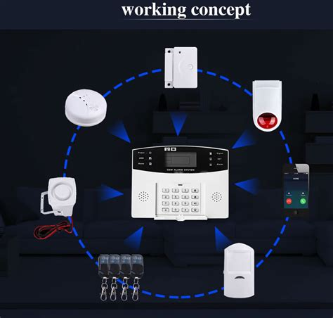 wired house alarm system wireless wired lcd gsm home house alarm system auto dialer