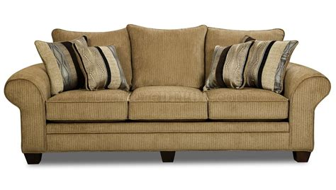 beige suede fabric modern casual sofa loveseat set w options
