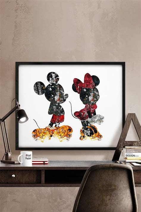 mickey mouse home decor my home mickey minnie print abstract disney poster disney