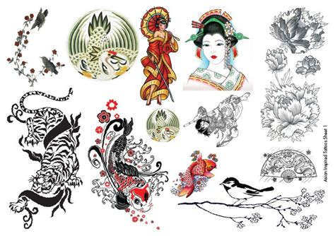 japanese henna tattoo designs temporary tattoos asian inspired