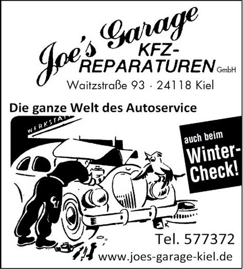 Service Joe S Garage Kiel
