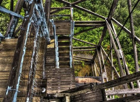 forest service lookout tower above packers cabin on