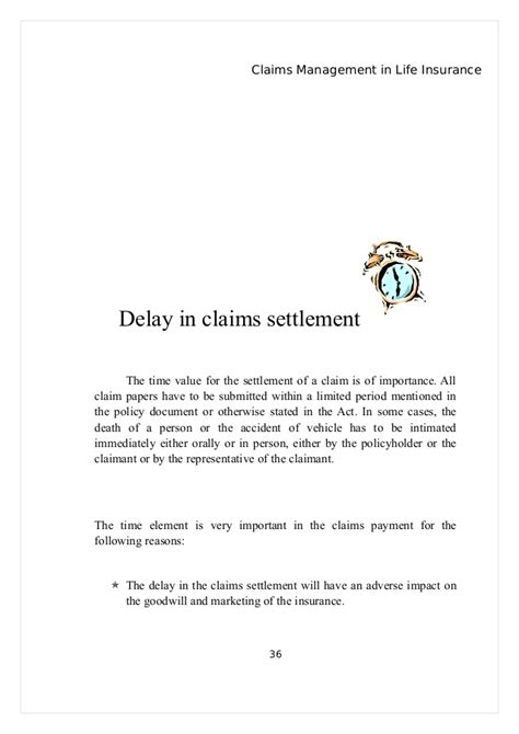 Explanation Letter For Project Delay Project On Claims Management In Insurance