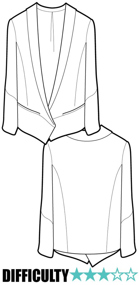 drawing jacket pattern a beautifully tailored jacket which would complement the