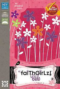 Sequin Bible Nirv Flower Zondervan faithgirlz bible niv zondervan publishing