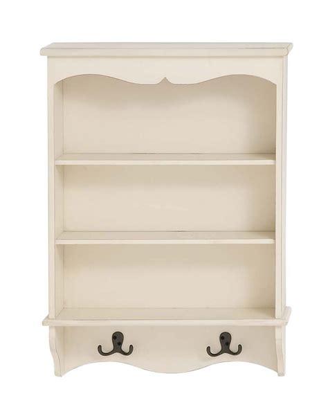 white curio wall shelf