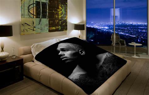 Chris Brown Bed Set Chris Brown 1743 Polar Fleece Blanket Throw Bedroom Decor Bed Set Chillder