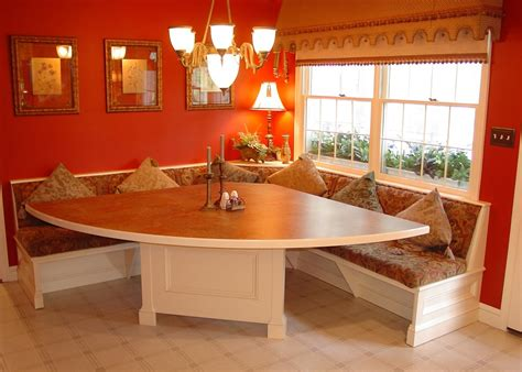 kitchen booth seating dining room traditional with