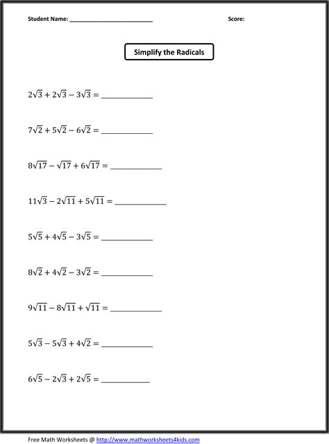8th Grade Math Review Worksheets by Math Worksheets For 8th Grade Math Worksheets For