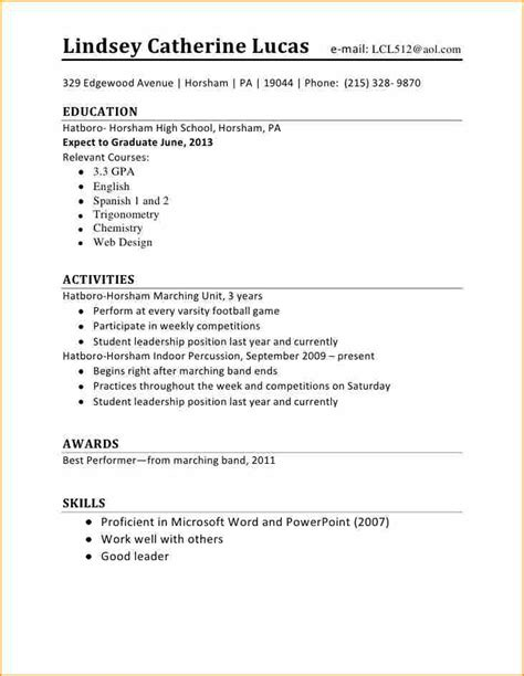 14 cv template student first job basic job appication