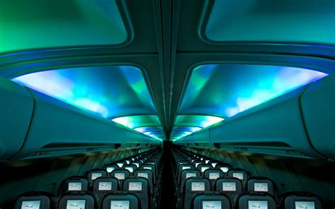 Icelandair Airplanes With Interior Aurora Led Lighting Lights I