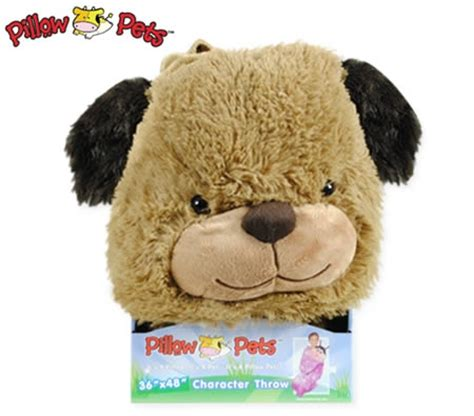 pillow pets character throw snuggly puppy blanket