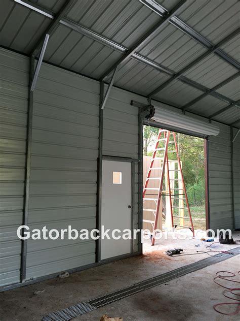 and garage door to metal building look inside a steel garage gatorback carports