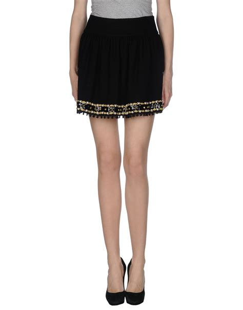 Moschino Mini Skirt moschino mini skirt in black save 6 lyst