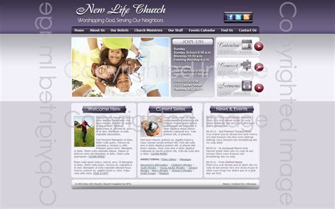 Church Web Templates by Church Template 292 Church Website Design Template