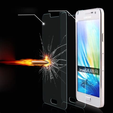 Tempered Glass Screen Guard Samsung A3 A300 I Century explosion proof premium real tempered glass screen