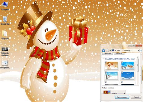 christmas wallpaper themes windows 7 snowy christmas windows 7 theme download