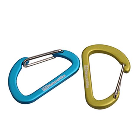 D Type Carabiner Buckle Hanging Aluminium naturehike 4cm mini carabiner d buckle small hanging buckle aluminum alloy alex nld