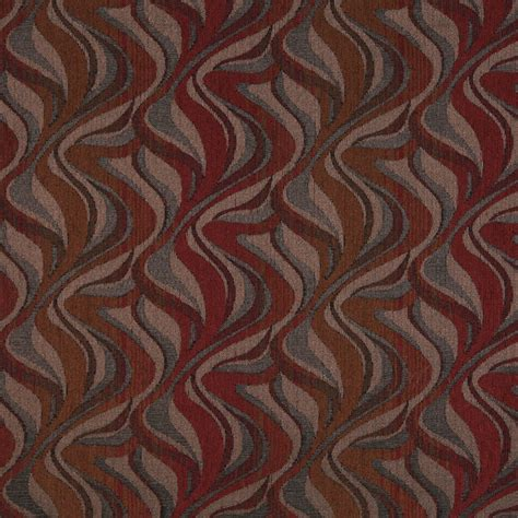 flame upholstery red brown and grey abstract flame chenille upholstery