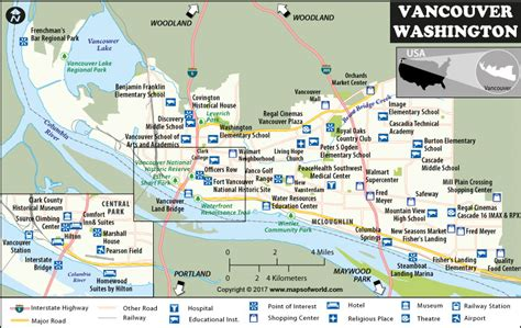 vancouver usa map vancouver map washington map of vancouver