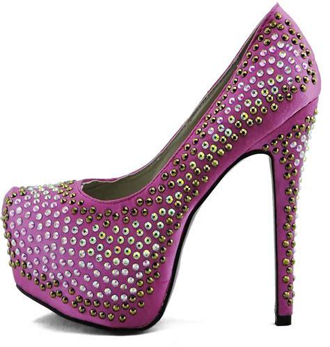 shoes lss00120 pink studded platform shoes