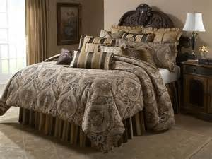 Bed Bath And Beyond Comforters Sets Aico Furniture Lucerne Gold Brown Paisley 13 Pc King